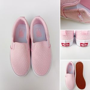 💕 Vans 💕 Kids Size US 2 Pink White Hearts Cute